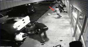 ST. LOUIS, MO - AUGUST 09: In this handout provided by the St. Louis County Police Department, video surveillance taken from Solo Insurance Services, appears to show Tyrone Harris Jr. grab a handgun out of his waistband once shots are fired during the protest in the W. Florissant corridor, prior to the officer involved shooting on August 9, 2015 in St. Louis, Missouri. Tyrone Harris Jr., was shot and wounded by detectives during protests one year after the death of Michael Brown (Photo by St. Louis County Police Department via Getty Images)
