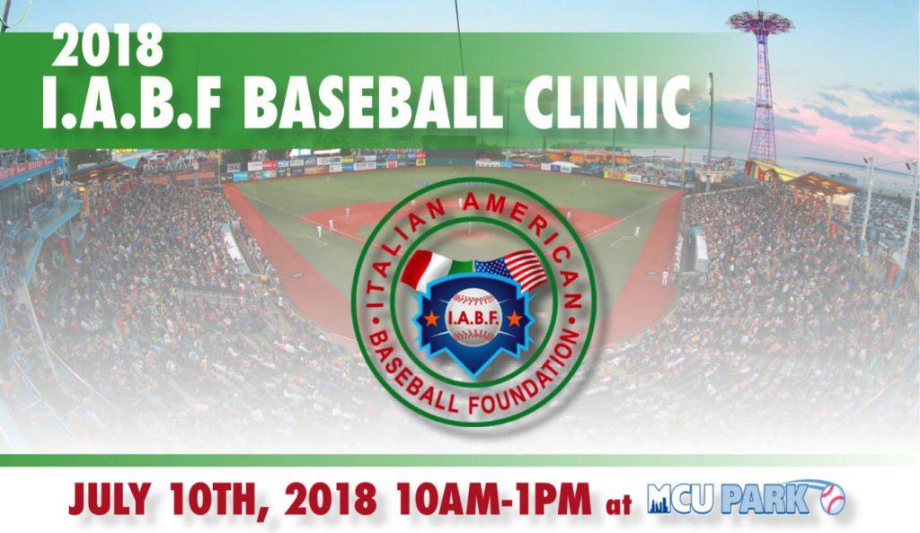 2018 I.A.B.F. Baseball Clinic July 10th,2018